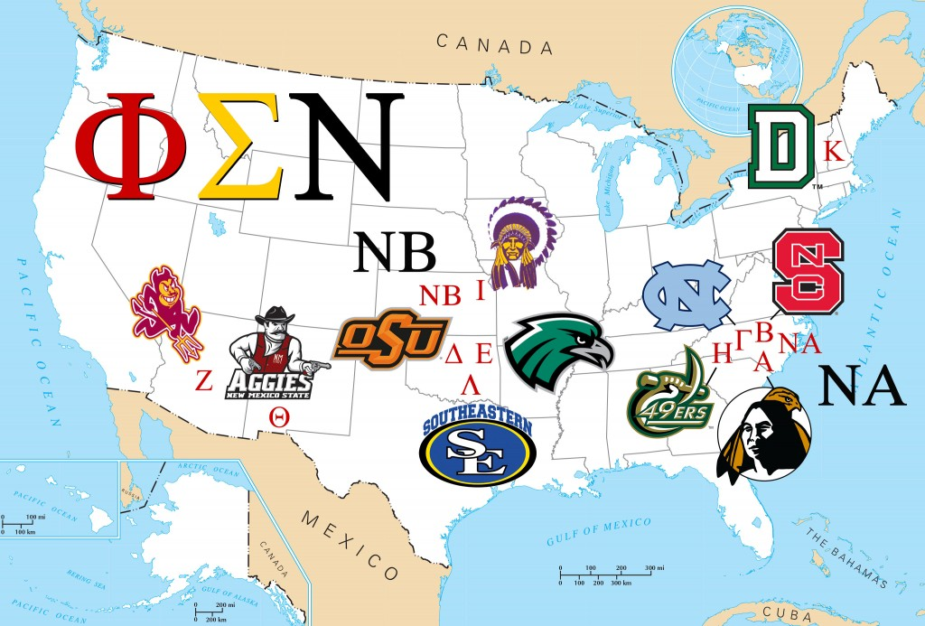 Chapters of Phi Sigma Nu