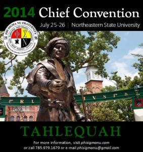 2014 Chief Convention at Northestern State University in Tahlequah, Oklahoma